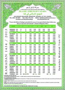 Ramadan Time Table6