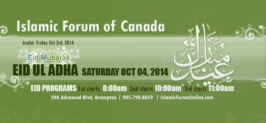 Eid-Ul-Adhah-Saturday-October-2014-Islamic-Forum-of-Canada
