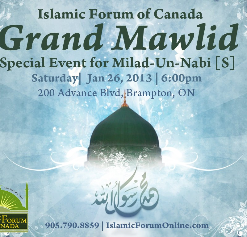 Grand Mawlid: Milad-un-Nabi – Jan 26, 2013