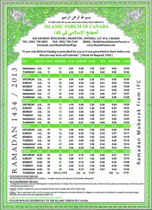 Ramadan Time Table6