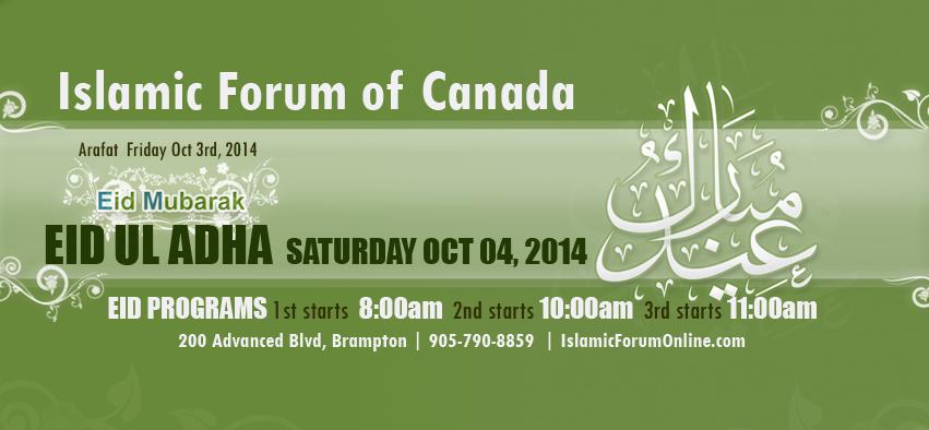 Eid-Ul-Adhah-Saturday-October-2014-Islamic-Forum-of-Canada