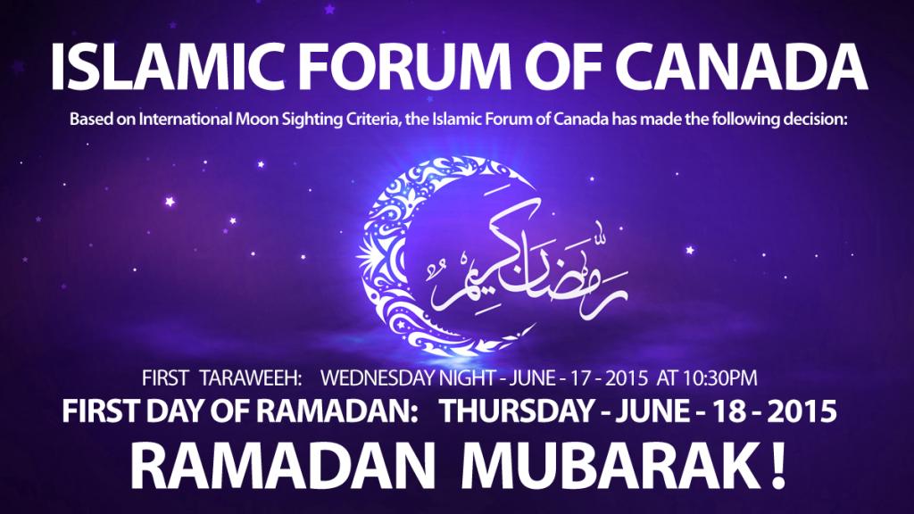 Ramadan 2015 Islamic Forum of Canada
