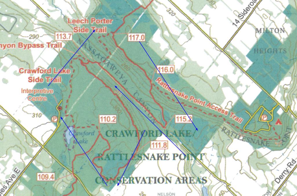Rattlesnake Trail Hiking Map